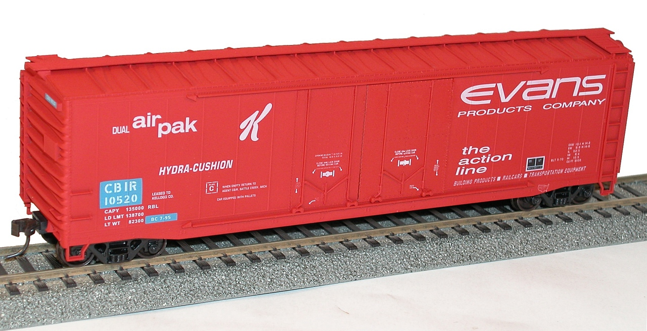 KELX CBIR Boxcar HO Scale Club Car Evans 50'